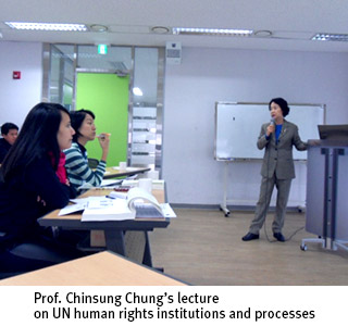 Prof. Chinsung Chung's lecture on UN human rights institutions and processes